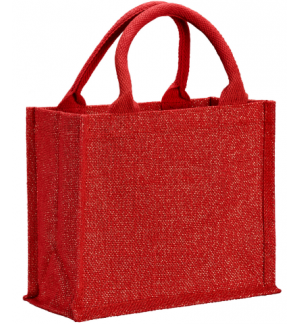 UBAG VAIL Glitter lurex jute shopping bag with inside coating 100% Jute 26x22x14cm.