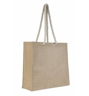 UBAG ROMA shopping bag with cord handles 100% Jute 38 x 42 x 14cm. Capacity 22L.