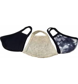 Σετ 3 Μάσκες Βαμβακερή Διπλή Υφασμάτινη Μάσκα Πολλαπλών Χρήσεων