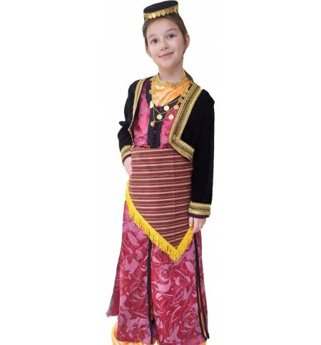 Greek Traditional Costume Ponte Girl Pontia Gold 6-12 Years old MARK832