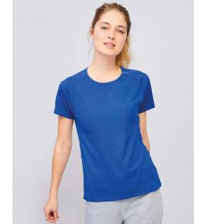 SOL'S SPORTY WOMEN 01159 Women's raglan-sleeved T-shirt Polyester Mesh 140gsm 100% Breathable Polyester