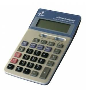 H2O Water Powered 12 Digit Display Desctop Calculator