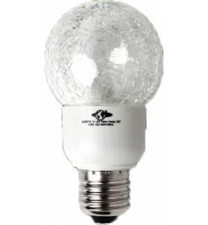 0,8W E27 LED Lamp, CRACKY GLOBE, FLAME color