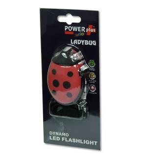 Επαναφορτιζόμενος Φακός LED με Δυναμό Πασχαλίτσα με Λουράκι
