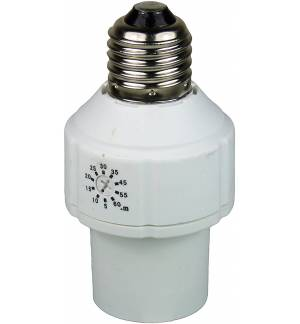 Ecosavers Lamp Base Timer E27 Βάση Λαμπτήρα με χρονοδιακόπτη κλείνει αυτόματα από 5-60 λεπτά