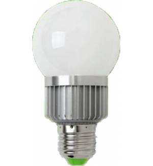 3W E27 High Power LED Lamp Globe. 1x3W