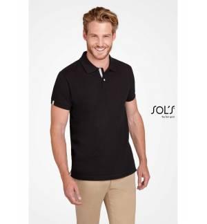 Sol's Portland Men - 00574 Men's polo shirt Pique 200gsm - 100% Ringspun cotton, Rib 1x1 collar and cuffs