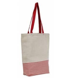 UBAG NEWPORT ΤΣΑΝΤΑ αγοράς απο γιούτα και βαμβακι με πλακέ χερούλια Μέγεθος τσάντας, 37x42 x10εκ. Χωρητικότητα 14L.