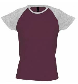 Sol's Milky 11195 Γυναικείο δίχρωμο t-shirt με ρεγκλάν μανίκια 100% βαμβάκι