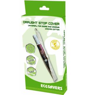 EcoSavers Draught Stop Cover Universal for doors & windows Canvas Cotton