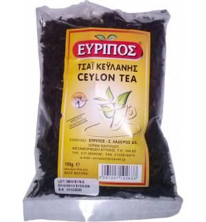 Κλασικό Μαύρο Τσάι Κεϋλάνης Εύριπος 100γρ Φυσικό τονωτικό