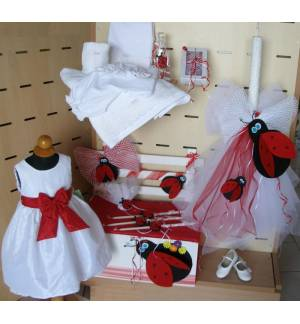 MARK685 Set Package Baptism Girl - Ladybug
