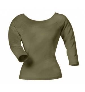 SOL'S AMAZON 11280 γυναικείο T-shirt με 3/4 μανίκι και βαθιά λαιμόκοψη 1x1 Ριπ, 220g/m 100% Βαμβάκι πενιέ