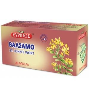 Τσάι βάλσαμο χαλαρωτικό Εύριπος 20 Φάκελα Φυσικό Προϊόν Άριστης Ποιότητος