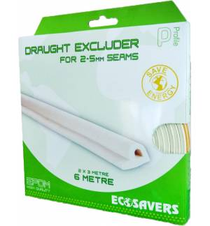 Draught - excluder Large, 6m, 3-5 mm, white