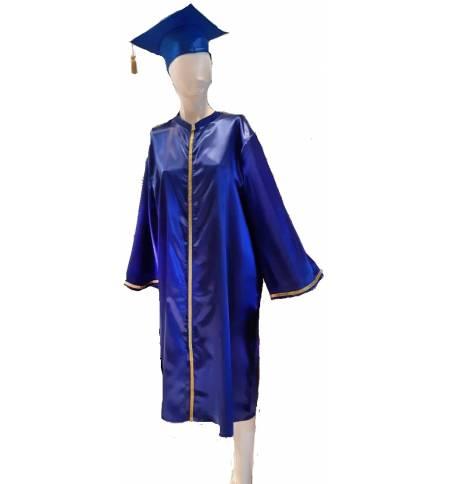Τήβεννος Σατέν μακρύ φόρεμα με καπέλο MARK854