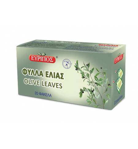 Τσάι Φύλλα Ελιάς Τονωτικό Εύριπος 20 Φάκελα Φυσικό Προϊόν Άριστης Ποιότητος