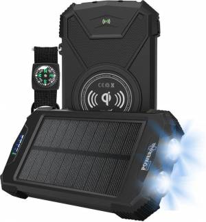 POWERplus Beluga Solar - USB powered Lithium-Polymer Heavy Duty Powerbank Wireless charging – type C