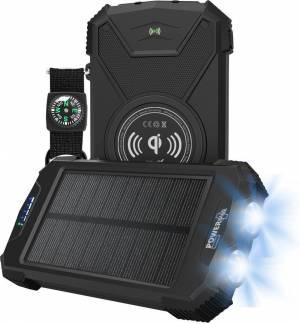 POWERplus Beluga Ηλιακό & USB Powerbank & Φακός Λιθίου Αντοχής με Ασύρματη Φόρτιση & Type C