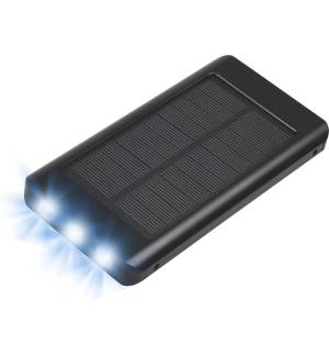 POWERPLUS SPARROW 8000MAH Ηλιακός USB TYPE C POWERBANK Φακός Θήκη Αλουμινίου