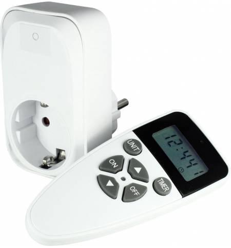 Ecosavers Remote Control Timer Switch Διακόπτης Πρίζας με τηλεχειριστήριο & χρονοδιακόπτη