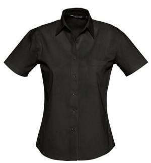 Sol's Energy 17040 Γυναικείο κοντομάνικο πουκάμισο 100% Βαμβάκι Ποπλίνα 125g