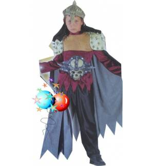 Carnival Halloween Costume kids SKULL WARRIOR 10-14 years Old MA