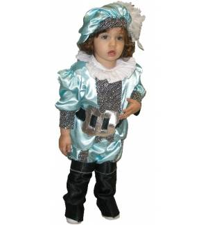 Carnival Halloween Costume kids PRINCE Small King 1-8 years Old