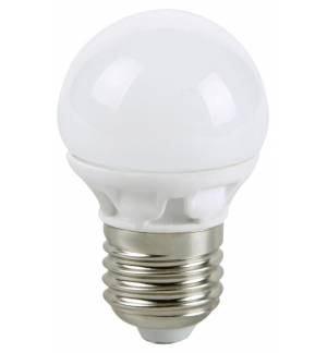 0,8W E27 LED Lamp WHITE GLOBE