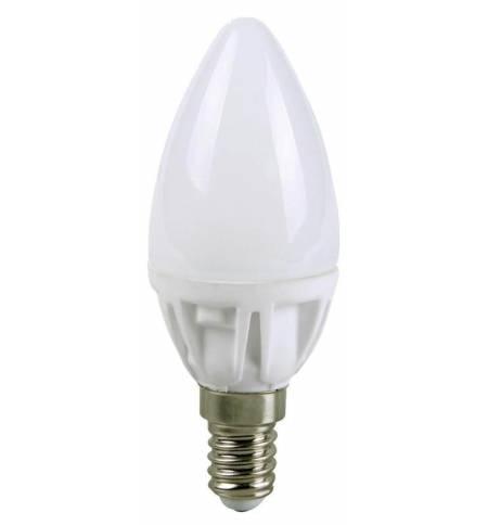 Λαμπτήρας LED Κερί 230V E14 1W Θερμό Λευκό 80LM Ecosavers Λάμπα