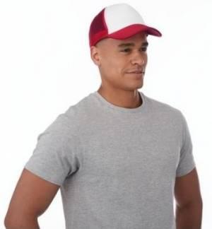 TRUCKER Πεντάφυλλο καπέλο με δίχτυ 100% Πολυέστερ 100-105gsm με σφουγγάρι στο γείσο και στο μέτωπο PF CONCEPT