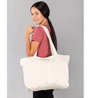 305 Eco Friendly Fabric Market Bag 100% Cotton Long Handles 38x42cm