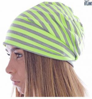Atlantis Hashtag beanie Long - Stripped - Double layer 50% Viscose - 50% Polyester, 48g