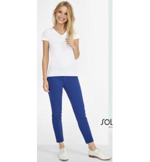 Sol's Jules Women 01425 Women's 7/8 pants Twill 240gsm - 98% Cotton - 2% Elastane
