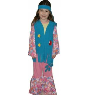 Carnival Halloween Costume kids Chipissa hippie girl 6-14 years