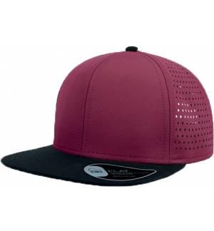 Atlantis Bank cap 6 PANEL Jockey Hat 100% Polyester microfiber flat squared visor
