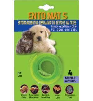 Insect repellent collar for dogs and cats ENTO MAT S for 4 Months