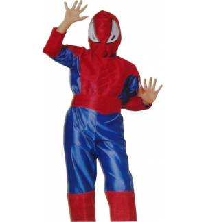 Carnival Halloween Costume kids Man Spider 6-14 years