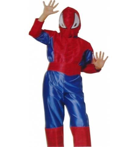 Carnival Halloween Costume kids Man Spider 6-14 years