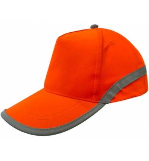 Flash 00838 Πεντάφυλλο ανακλαστικό καπέλο τζόκει 100% πολυέστερ κούμπωμα χρατς ABOUT BASICS