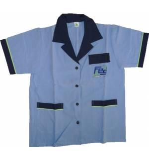 Πουκάμισο Ποδιά Μπλούζα Εργασίας Feg με Κουμπιά Τσέπες Γιακά S & M
