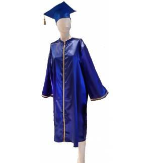 Τήβεννος Σατέν μακρύ φόρεμα με καπέλο Ενηλίκων MARK905