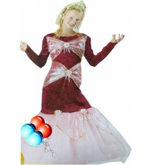 Carnival Halloween Costume Kids Show Queen 8-12 years MARK537