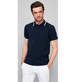 PRACTICE 11365 Men's polo shirt Pique 270gsm - 100% combed Ringspun cotton, Rib collar and cuffs, Reinforcing tape on neck