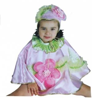 Carnival Halloween Costume kids Babies Little Flower Cape 9-24 M