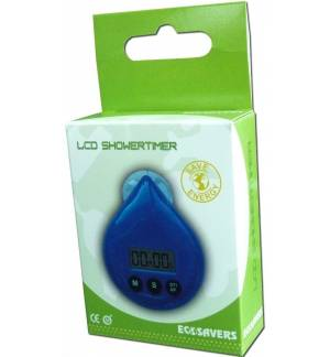 Ecosavers LCD Shower Timer Drop Coach Kitchen Alarm With Suction Cup