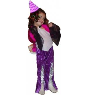 Carnival Halloween Costume kids Rock Star Bratz 4-12 years Old M