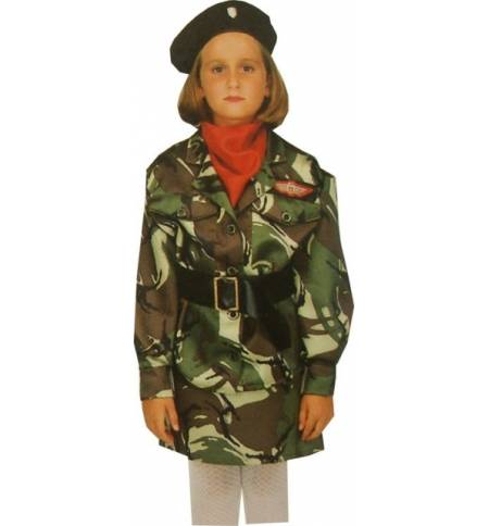 sc 1 st  MarketNet.gr & Carnival Halloween Costume kids Army Girl 6-8 years Old MARK543