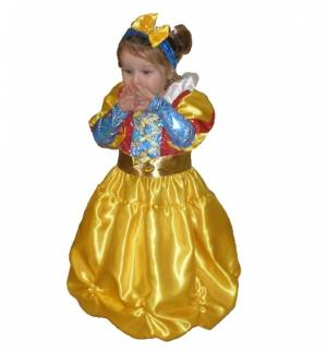 Carnival Halloween Costume kids Little snow white 2-10 years Old