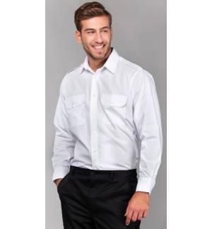LSL Vigilant Ανδρικό μακρυμάνικο πουκάμισο με επωμίδες Ποπλίνα 65% Πολυέστερ 35% Βαμβάκι 120gsm